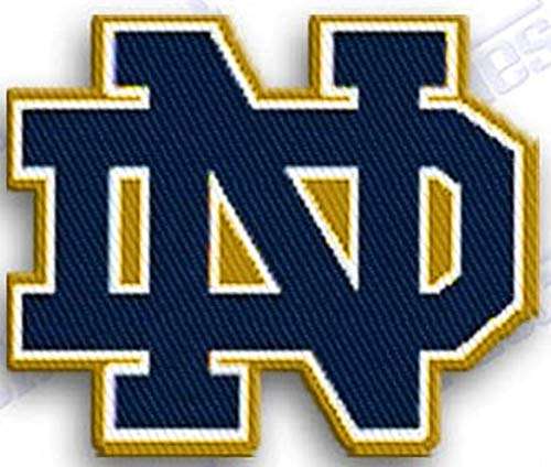 - NOTRE DAME FIGHTING IRISH IRON ON EMBROIDERED EMBROIDERY PATCH PATCHES SCHOOL OF UNIVERSITY STATE COLLEGE NCAA FOOTBALL SPORTS