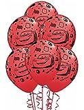 Ballons anniversaire Cars (x6)