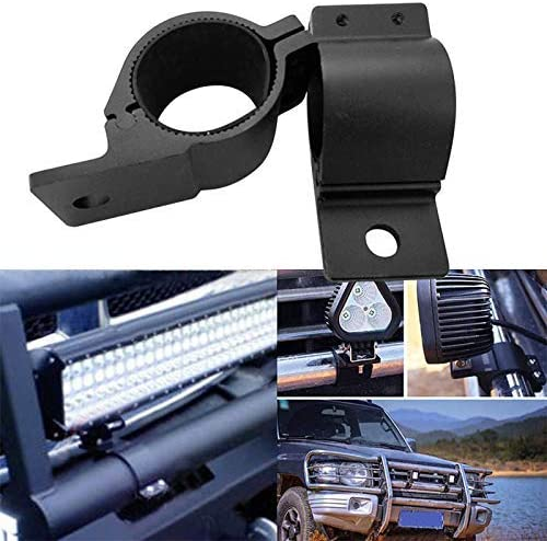 Mcottage 1 Pair 49-54mm LED Bar Roll Bull Mount Bracket Clamps for Offroad Work Light