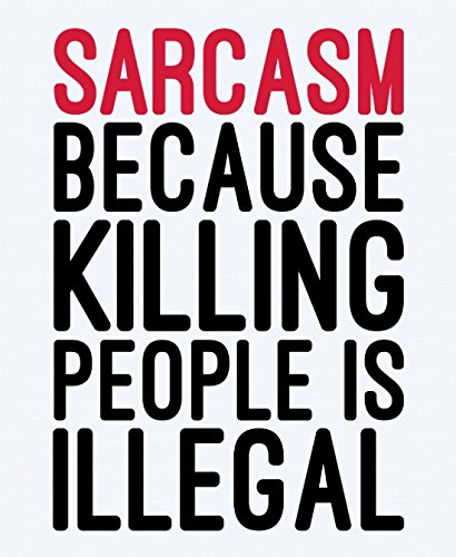 Sarcasm Funny Quote Canvas Wall Art Prints Framed Modern Decor Paintings Artwork for Living Room and Bedroom Decorations