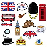 "Beistle British Photo Fun Signs, 5""-11.5"", Multicolor"