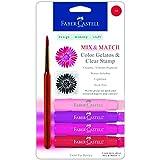 Faber Castell  Design Memory Craft Gelatos Color & Clear Stamp,  Red - 4 Colors Per Set