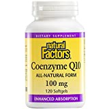 natural factors coq10 - Natural Factors - Coenzyme Q10 100mg, Antioxidant Support with Enhanced Absorption, 120 Soft Gels