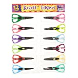 ECR4Kids Kraft Edgers in Storage Pouch, Assorted, Colors Vary, 12-Piece, 6-Pack
