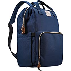 Diaper Bag,Large Capacity Baby Diaper Backpack Travel Nappy Bag, Multi-Function Nursing Bag with Insulated Bottle Pocket, Fashion Mummy,Durable Stylish Roomy Waterproof for Baby Care, Blue
