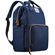 Diaper Bag,Large Capacity Baby Diaper Backpack Travel Nappy Bag, Multi-Function Nursing Bag with Insulated Bottle Pocket, Fashion Mummy,Durable Stylish Roomy Waterproof for Baby Care by Ramhorn,Blue