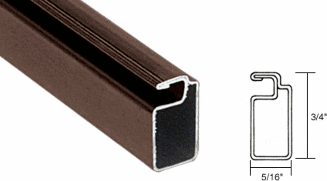 CRL Bronze Finish 3/4'' x 5/16'' Roll Formed Aluminum Screen Frame - 12 ft long by C.R. Laurence