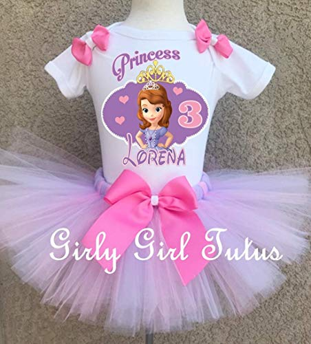 Sofia the 1st Princess Girls Birthday Tutu Outfit ()