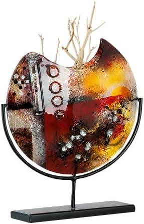 Fait Main en Verre H 47 cm Objet d/écoratif GILDE GLAS art Design-Vase