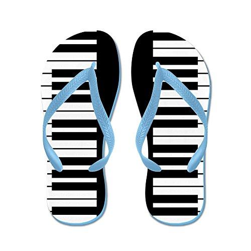 CafePress Piano Key - Flip Flops, Funny Thong Sandals, Beach Sandals Caribbean Blue