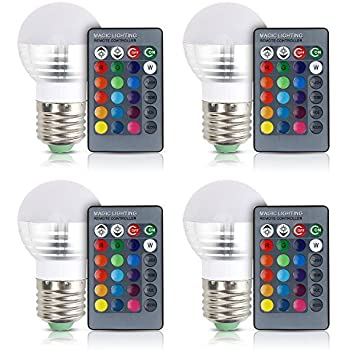 Color Changing Light Bulb Lvjing Dimmable 16 Modes Mood