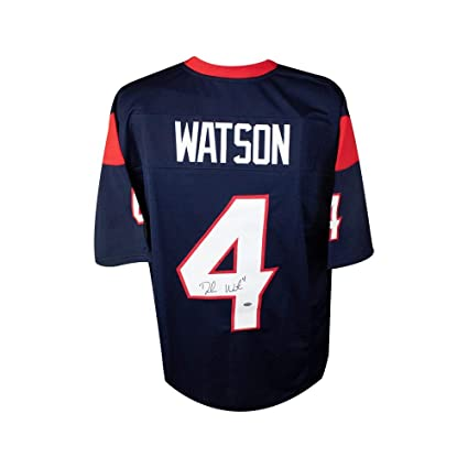 promo code 72687 0d0cd Deshaun Watson Autographed Houston Texans Custom Navy ...