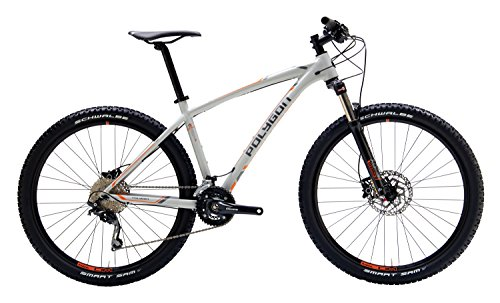"Polygon Bikes Siskiu 6 Hardtail Mountain Bicycle, Grey/Orange, 15""/Small"