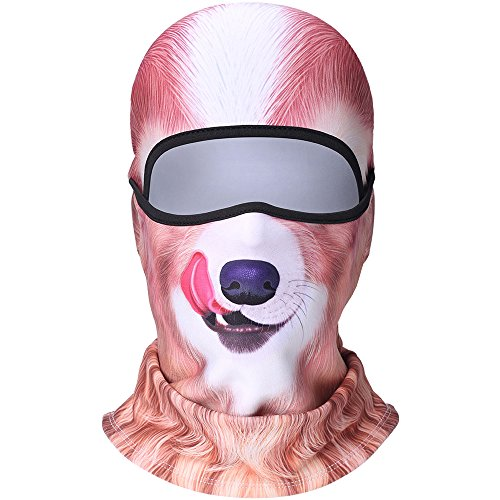 3D Animal Fleece Neck Warmer Thermal Windproof Balaclava Face Mask Protection Hood Cover for Ski Snowboard Skateboard Cycling Motorcycle Music Festivals Raves Halloween Party Men Women Dog #8