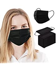 NaineLa Face Mask Disposable 100 PCS 3 Ply Filtration Face Protection Mouth Cover Breathable Safety Masks for Women Men