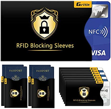 4 Protettive per Passaporto 14 Custodie con Blocco RFID Porta Carte di Credito