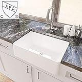 KES cUPC Fireclay Sink Farmhouse Kitchen Sink (30 Inch Porcelain...
