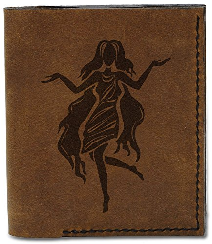 Leather Wallet Genuine Black Natural b Sign Handmade Zodiac 04 MHLT Men's Virgo qwYp6HSOH