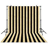 Allenjoy 6x8ft photography backdrops party Gold and Black Stripes Golden Glitter glamour Sparkle Birthday wedding Adults Party banner photo studio booth background photocall