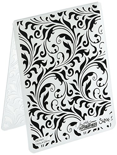 Sizzix 661822 Flourish Texture Fades Embossing Folder - Flourish Collection
