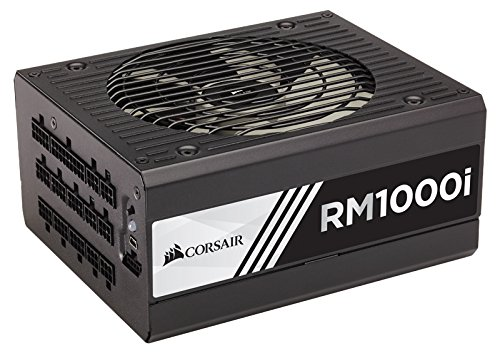CORSAIR RMi Series, RM1000i, 1000 Watt, 80+ Gold Certified, Fully Modular - Digital Power Supply