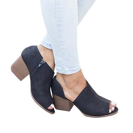 Women's Slip On Side Cutout Block Heel Low Cut Ankle Bootie