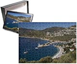 PHOTO JIGSAW PUZZLE. Photo Puzzle (252 Pieces). Artwork depicting View over town and harbour with Gulets, Kalkan, Lycia, Antalya Province, Mediterranean Coast, Southwest Turkey, Anatolia, Turkey, Asia Minor, Eurasia. Professionally made to or...