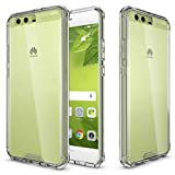 MOONCASE Huawei P10 Plus Case, Hybrid Shockproof Slim TPU Bumper with Clear Transparent Hard Back Case Cover for Huawei P10 Plus Clear