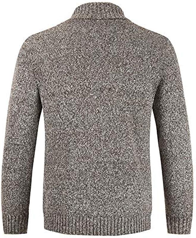 Jakflyzel męski zimowy sweter kardigan dwurzędowy kaszmirowy dekolt w kształcie litery V sweter męski duży rozmiar: Odzież