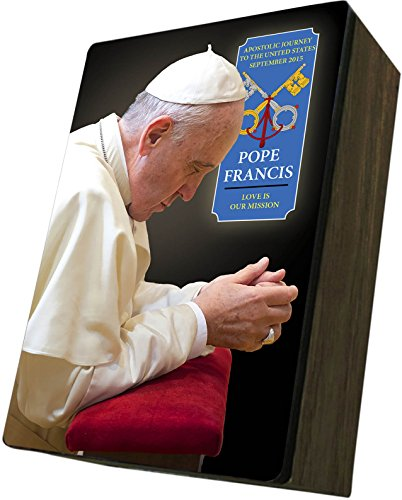 Catholic to the Max|Pope Francis Apostolic Journey, 4x6.5x2.5in Wooden Keepsake Rosary Jewelry Box by Catholic to the Max