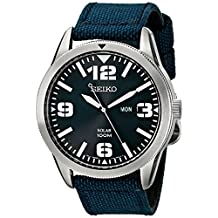 Seiko Men's SE-SNE329 Solar Nylon Strap Blue Watch
