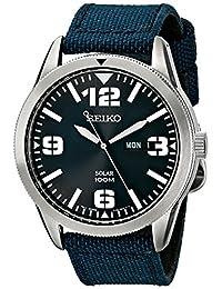Seiko Men's SE-SNE329 Solar Nylon Strap Blue Watch