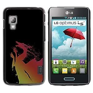 Be Good Phone Accessory // Dura Cáscara cubierta Protectora Caso Carcasa Funda de Protección para LG Optimus L5 II Dual E455 E460 // The Red Dragon