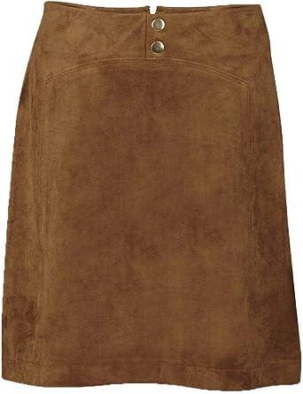 Naf Naf Falda LHNJ7 marrón Mujer 40 marrón: Amazon.es: Ropa y ...