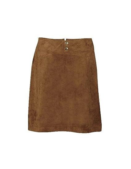 Naf Naf Falda LHNJ7 marrón Mujer: Amazon.es: Ropa y accesorios