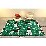 Super Soft Modern English Springer Spaniel Santa Christmas Area Rugs Living Room Carpet Bedroom Rug for Children Play Solid Home Decorator Floor Rug and Carpets 210 x 150 cm 7