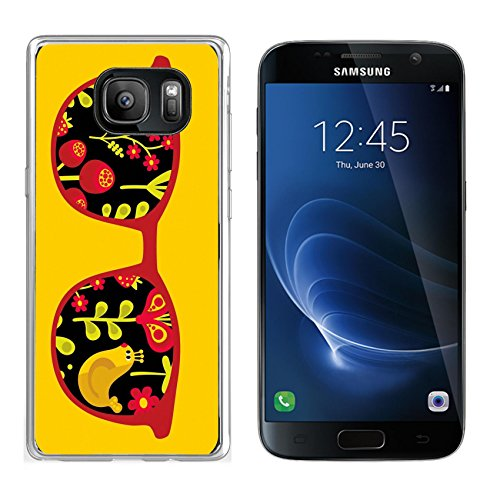 MSD Samsung Galaxy S7 Clear case Soft TPU Rubber Silicone Bumper Snap Cases IMAGE 26796178 Retro sunglasses with reflection for hipster Vector illustration of accessory eyeglasses - Sunglasses Free Vector