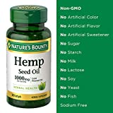 Nature's Bounty Nature's bounty Hemp Seed Oil, Cold Pressed Oil 1000mg, 30 softgels, 30 Count