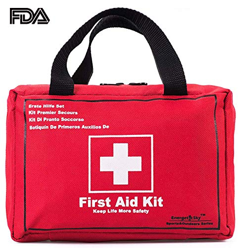 First Aid Kit Survival Kit 130 Pcs,Complete & Compact Medical Emergency Kit Lightweight for Home,Outdoors,Car,Camping,Workplace,Hiking & Survival. from EnergeticSky