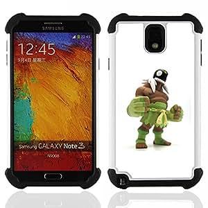 - green monster wrestling white man - - Doble capa caja de la armadura Defender FOR Samsung Galaxy Note3 N9000 N9008V N9009 RetroCandy