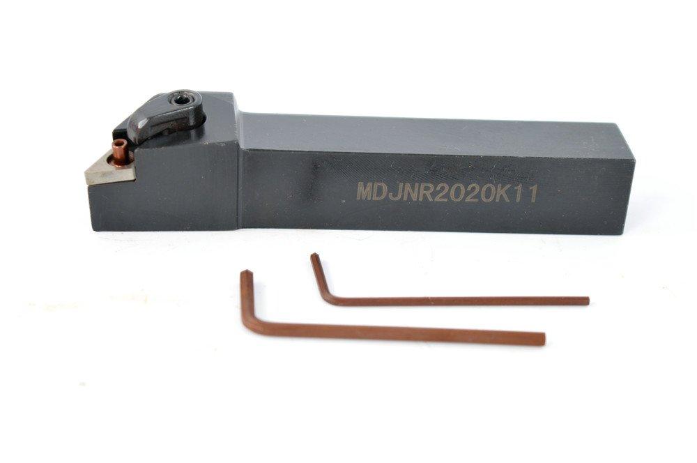 1PCS MDJNR 2020K11 93 degrees Alloy Steel CNC Lathe Excircle Turning Tool Holder Boring Bar For DNMG1104 , Holder width 20 mm , Overall length 125 mm , 2020 MDGNR Tool Holder