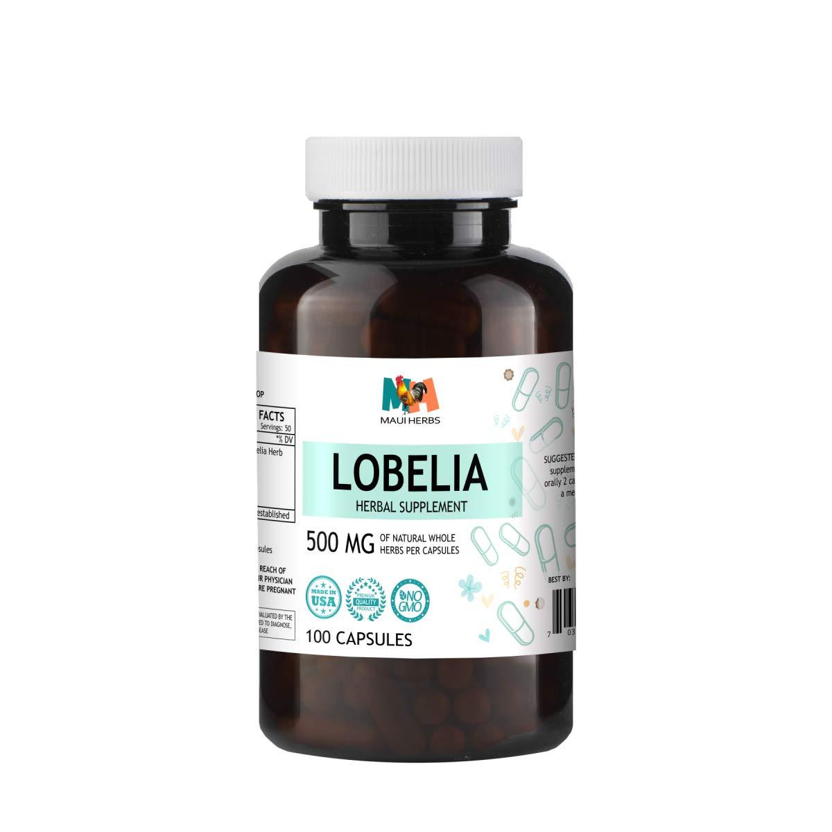 Amazoncom Lobelia Capsules 500 Mg Organic Lobelia Herb Lobelia