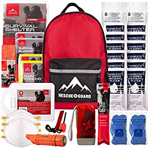 Rescue Guard First Aid Kit Hurricane Disaster or Earthquake Emergency Survival Bug Out Bag Supplies for Families – Up to…