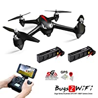 MJX B2W Bugs 2W Wifi FPV RC Quadcopter [2 Batteries Included] - Amazingbuy 2.4GHz 6-Axis Gyro 1080P HD 5G Wifi Camera FPV Long Range Drone With GPS, Altitude Hold, Headless mode and Return to Home
