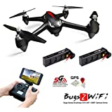 MJX B2W Bugs 2W RC Quadcopter - 2 Batteries Included - Amazingbuy 2.4GHz 6-Axis Gyro 1080P HD 5G Wifi Camera FPV - Long Range Drone With GPS, Altitude Hold, Headless mode,One Key Return (Black)