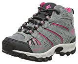 Columbia Kids' Childrens North Plains Mid Waterproof Hiking Boot, Grey Ash/Ultra Pink, 10 M US Little Kid