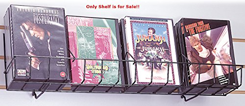 Count of 10 New Black Strong Welded Design Slatwall CD Shelf 24