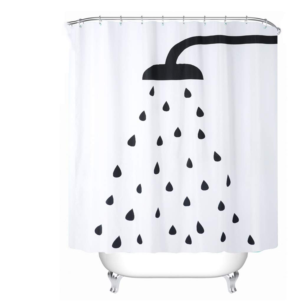 HTY Bathroom Shower Curtain, Bathroom Cover Curtain Mildew Curtain Window Curtain Door Curtain Curtain Free Punching Waterproof Thickening (Size : 240200cm)