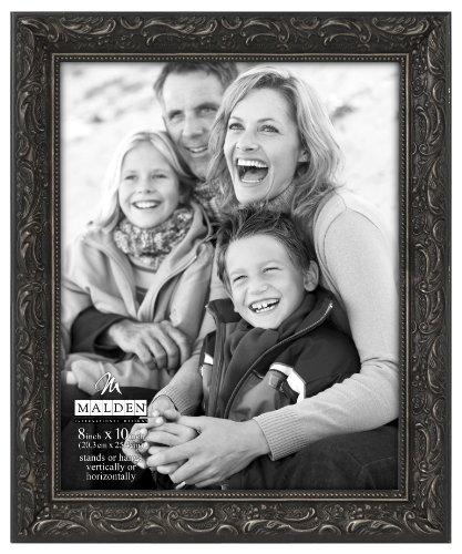 Malden International Designs Classic Ornate Black Wood Picture Frame, 8x10, - Frame Black Vintage