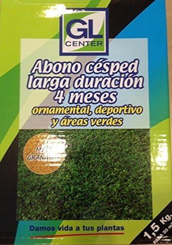 Abono cesped larga duracion 4 meses GL 1, 5 Kg: Amazon.es: Jardín